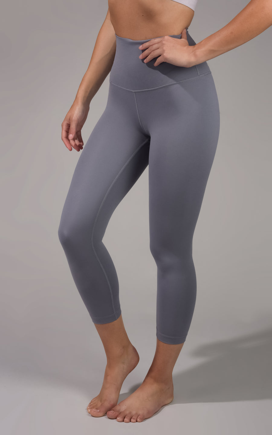 """LUX"" Elastic Free Super High Waist Capri with V-Back Yoke"
