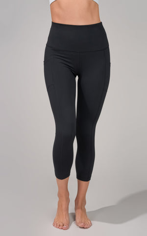 Lux Elastic Free Waistband High Rise Side Pocket  Capri