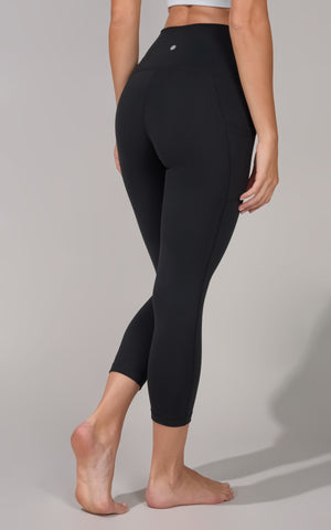 """Lux"" Elastic Free High Waist Side Pocket Capri"