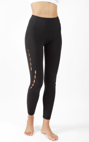 Nude Tech Legging with Side Peek