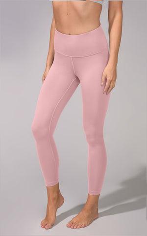 """Lux"" High Waist V-Back 7/8 Ankle Legging with Criss Cross Tape Waistband"
