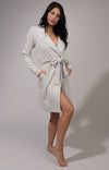 Comfy Fleece Plush Lined Robe tied with Red Ribbon