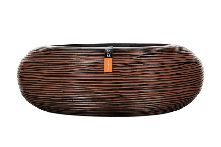 Bowl round rib brown 35cm