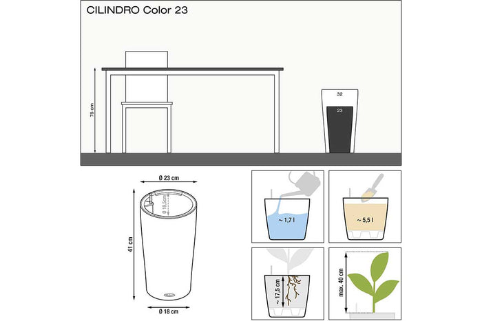 Lechuza Cilindro Color 23