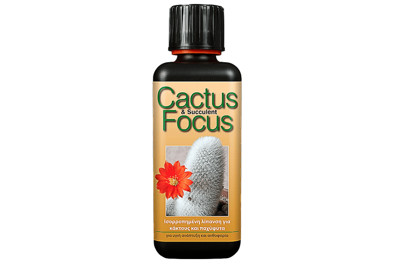Cactus and Succulent focus 100ml - Λίπασμα για κάκτους και παχύφυτα