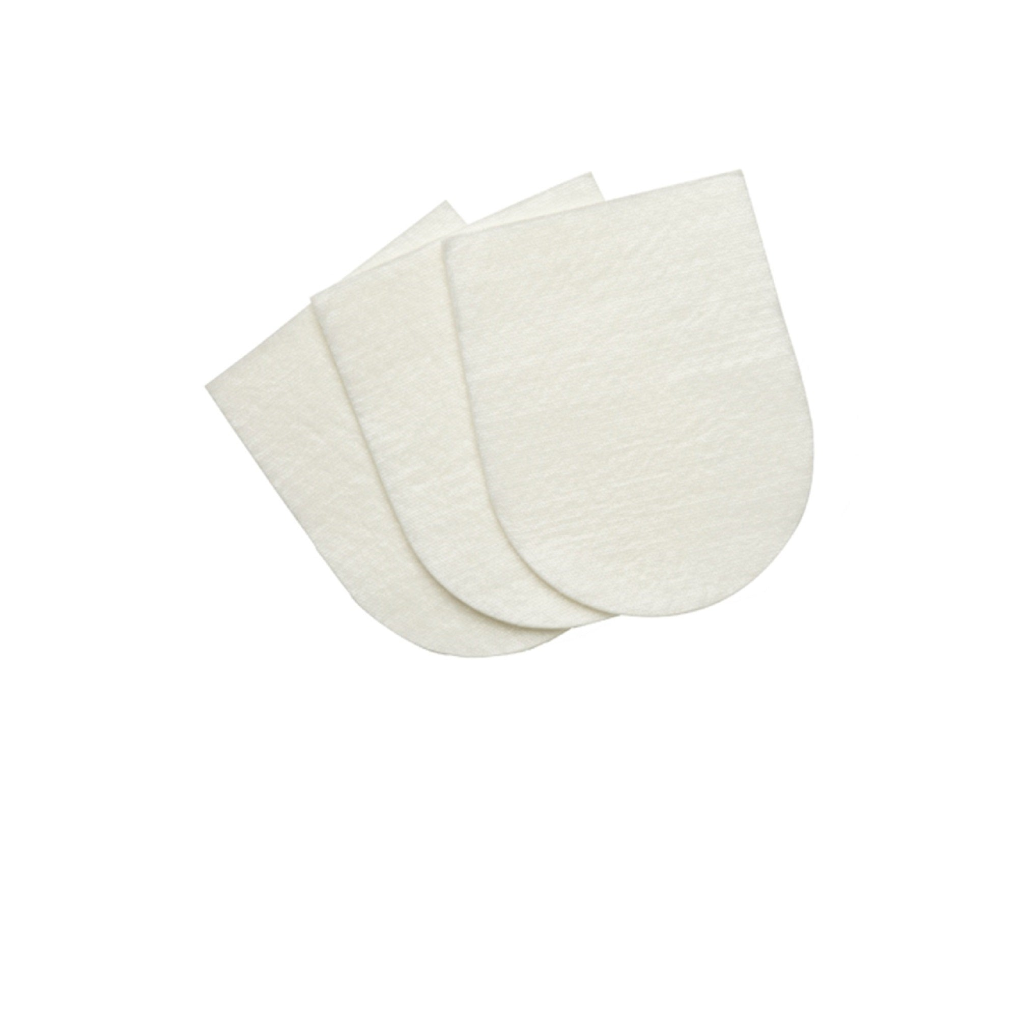 Image of three Healer's Petcare gauze pads that are shaped like a dog's paw.