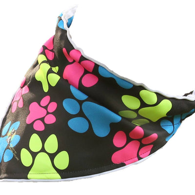 Spot-Lite LED Lighted Bandana - Neon Paws Print
