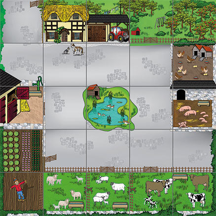 Bee-Bot® and Blue-Bot Farmyard Mat - CLASSROOM eShop