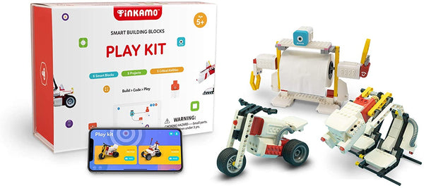 Tinkamo Play Kit | STEM Educational Coding Toy for Kids Aged 5-12 | Compatible with Lego | AI-Powered | App-Enabled Programmable Blocks