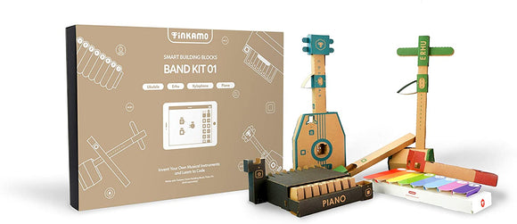 Instruments Kit (Band Kit-01) - Tinkamo Smart Building Blocks for Tech Age Kids AI-Powered | Compatible with Lego Technic | Brings Toys to Life | Coding Learning for Kids 5-12 | - CLASSROOM eShop