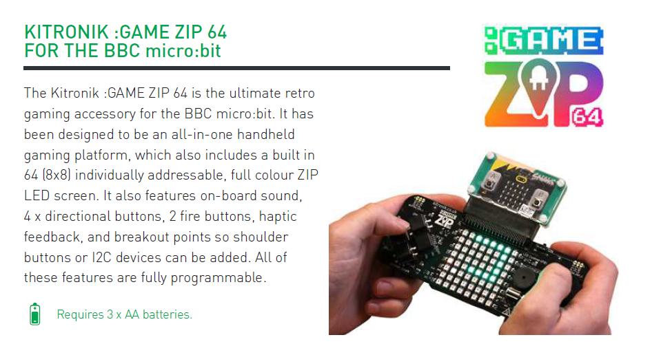 game:Zip with micro:bit board