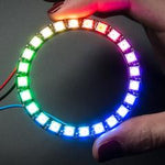 Adafruit NeoPixel Ring - RGB LED w/ Integrated Drivers - 24 pixel