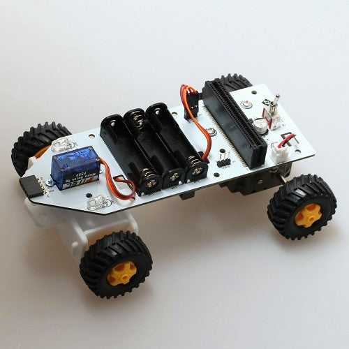 SwitchScience 4-Wheel Car Kit for micro:bit (without controller) - CLASSROOM eShop