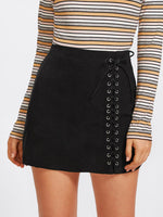 Nancy Lace Up Detail Skirt