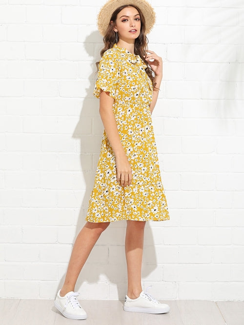 Tiffany Calico Print Dress