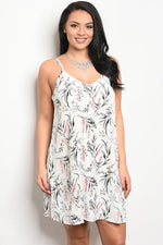 Jennifer Leaf Print Dress