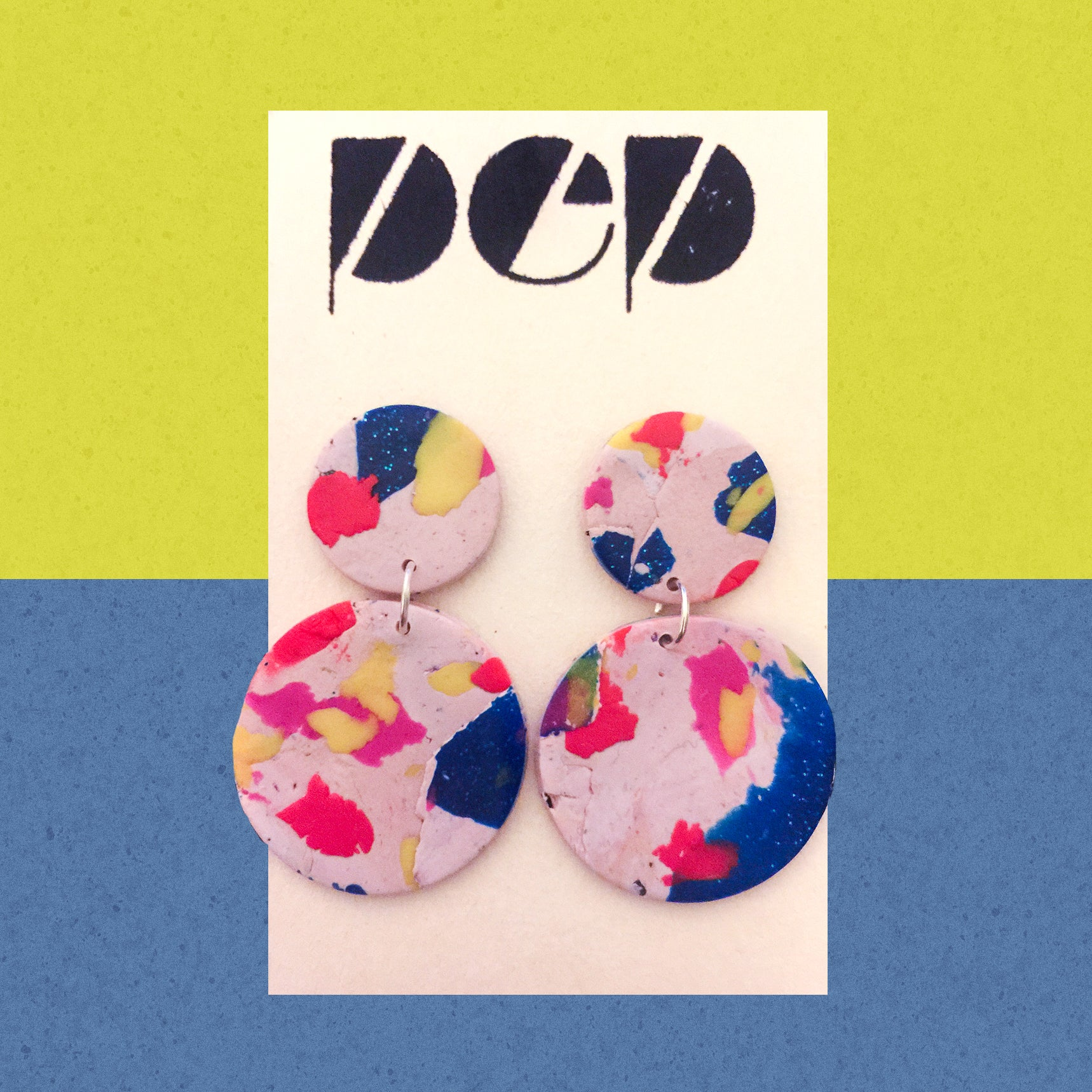 Handmade Polymer Clay Drop Earrings