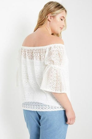 Lacey Moments Off Shoulder Top