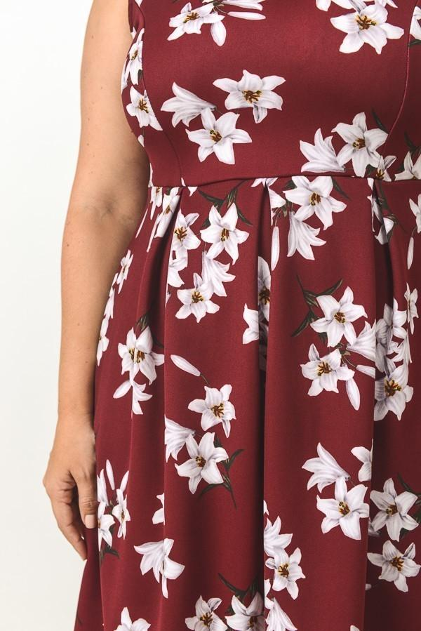Claudia Floral Empire Dress