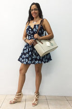ICE BLUE FLORAL DRESS