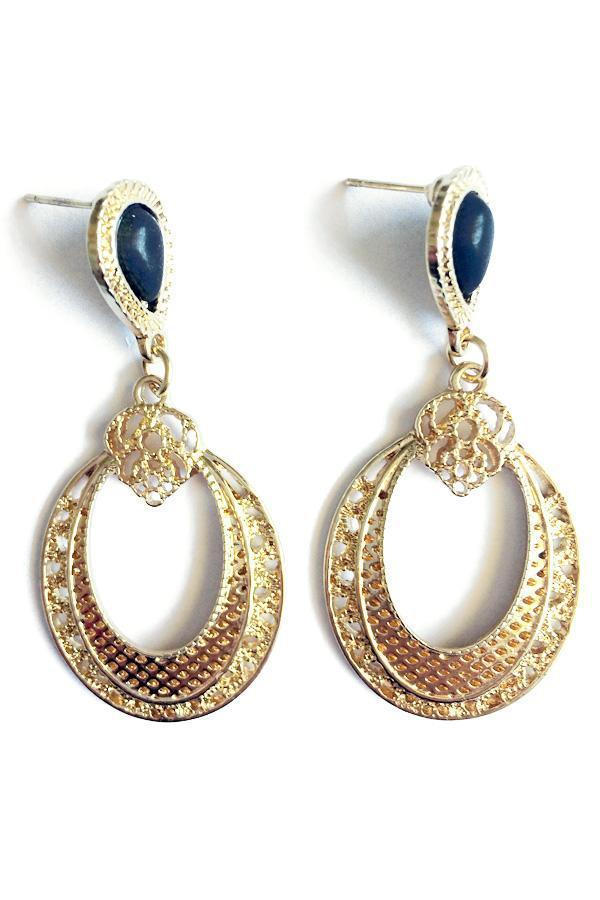 Hollow Out Drop Earrings