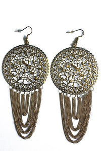 Tassel Design Drop Earrings