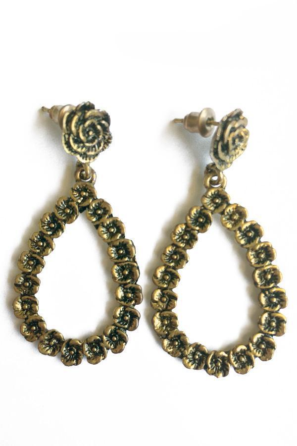 Rose Vintage Earrings gold