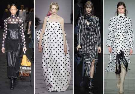polka dots and spots on the S/S18 runways
