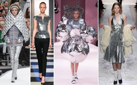 metallic fashion on the S/S 18 runways