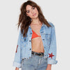Long Sleeve Applique Cool Star Jacket