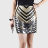 High Rise Luxe Geometric Print Skirt