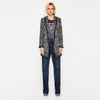 Long Sleeve Lapels Boyish Plaid Blazer