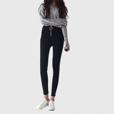 Medium Rise Zipper Cool Plain Jeans