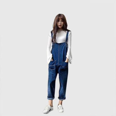 Sleeveless Pockets Laid Back Plain Jumpsuit