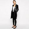 Long Sleeve Lapels Elegant Plain Coat