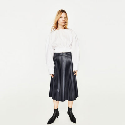 Regular Waist On-Trend Plain Skirt