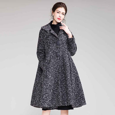 Long Sleeve Button Stylish Plain Coat