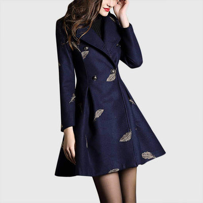 Bracelet Sleeve Embroidery Chic Natural Print Coat