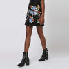 Medium Rise Sweet Floral Embroidery Mini Skirt