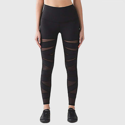 Regular Waist Panelled Sporty Plain Leggings