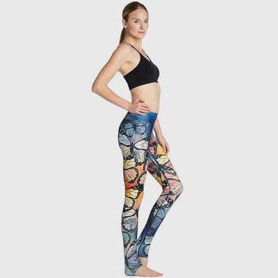 Medium Rise Skinny Fit Feminine Graphic Print Leggings