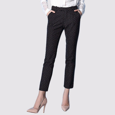 Medium Rise Pockets On-Trend Polka Dot Pants