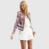 Long Sleeve Round Neck Chic Floral Print Jacket