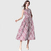Sleeveless Round Neck Feminine Floral Embroidery Dress