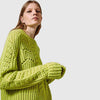 Long Sleeve Round Neck Bright Plain Sweater