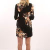 Trumpet Sleeve Round Neck Chic Floral Print Dress