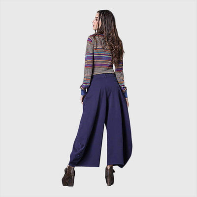 Medium Rise Pockets Flattering Plain Pants