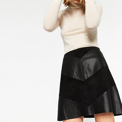 Regular Waist Panelled Rocking Chevron Skirt