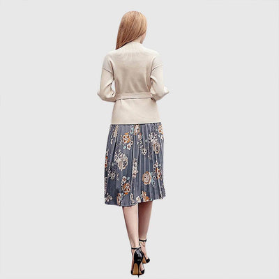 Regular Waist Whimsical Floral Print Skirt