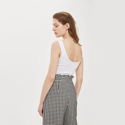 High Rise Wide Leg On-Trend Gingham Pants